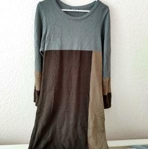 Venus Color block Sweater Dress